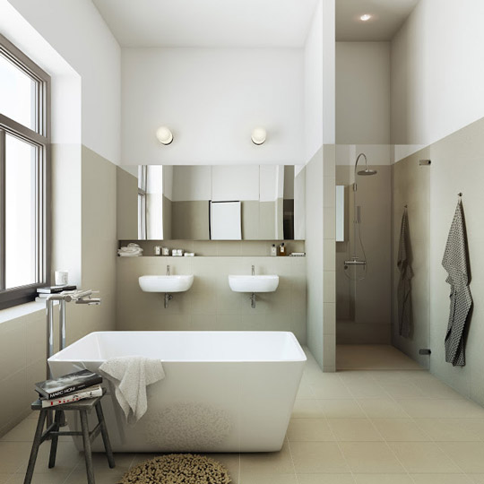 Baños Minimalistas Imagenes:Bathrooms with Standalone Sink