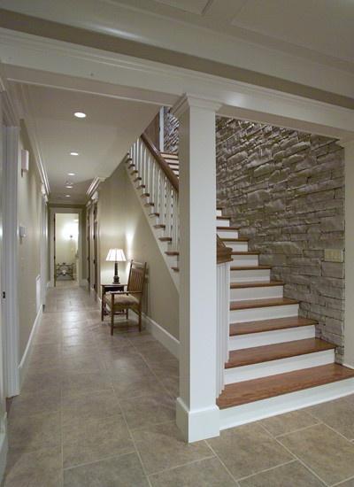Escaleras Con Paredes De Piedra Chalets Lujo