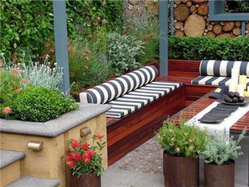 Decoraci n de patios y jardines chalets de lujo for Patios y jardines decoracion